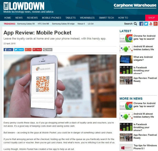 The lowdown article - mobile-pocket app review