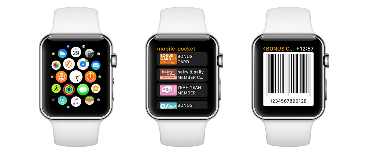 mobile-pocket Apple Watch App 3 Screens